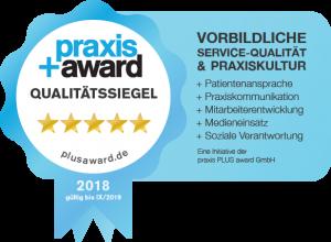 Qualitätssiegel Praxisplus Award